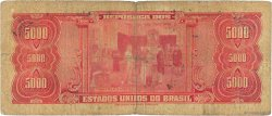 5 Cruzeiros Novos sur 5000 Cruzeiros BRÉSIL  1966 P.188b B