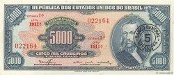 5 Cruzeiros Novos sur 5000 Cruzeiros BRÉSIL  1966 P.188b SPL