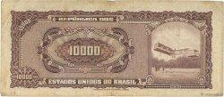 10 Cruzeiros Novos sur 10000 Cruzeiros BRÉSIL  1967 P.190a TB