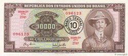 10 Cruzeiros Novos sur 10000 Cruzeiros BRÉSIL  1967 P.190a SUP+