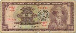 10 Cruzeiros Novos sur 10000 Cruzeiros BRÉSIL  1967 P.190b B