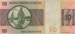 10 Cruzeiros BRÉSIL  1970 P.193a TB