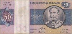 50 Cruzeiros BRÉSIL  1970 P.194a TB