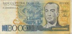 100000 Cruzeiros BRÉSIL  1985 P.205a TB