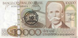 10 Cruzados sur 10000 Cruzeiros BRÉSIL  1986 P.206 TTB