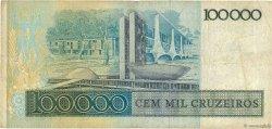 100 Cruzados sur 100000 Cruzeiros BRÉSIL  1986 P.208a TB