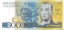 100 Cruzados sur 100000 Cruzeiros BRÉSIL  1986 P.208a NEUF