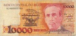 10 Cruzados Novos sur 10000 Cruzados BRÉSIL  1989 P.218a B