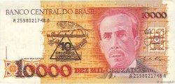 10 Cruzados Novos sur 10000 Cruzados BRÉSIL  1989 P.218a TTB