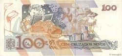 100 Cruzados Novos BRÉSIL  1989 P.220a TTB