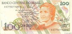 100 Cruzados Novos BRÉSIL  1989 P.220b TTB
