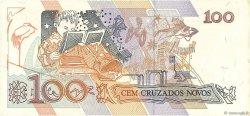 100 Cruzados Novos BRÉSIL  1989 P.220b SPL