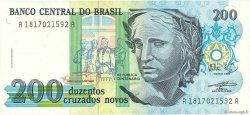 200 Cruzados Novos BRÉSIL  1989 P.221a NEUF