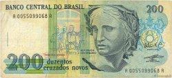 200 Cruzados Novos BRÉSIL  1989 P.221a TB