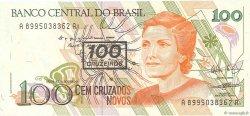 100 Cruzeiros sur 100 Cruzados Novos BRÉSIL  1990 P.224b NEUF
