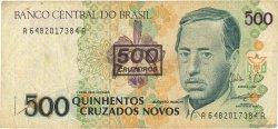 500 Cruzeiros sur 500 Cruzados novos BRÉSIL  1990 P.226b TB