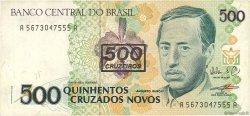 500 Cruzeiros sur 500 Cruzados novos BRÉSIL  1990 P.226b TTB