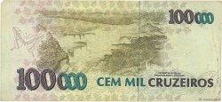100000 Cruzeiros BRÉSIL  1992 P.235a TB