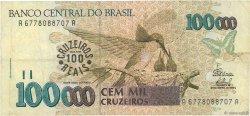100 Cruzeiros Reais sur 100000 Cruzeiros BRÉSIL  1993 P.238 TB