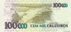 100 Cruzeiros Reais sur 100000 Cruzeiros BRÉSIL  1993 P.238 SUP