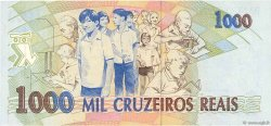 1000 Cruzeiros Reais BRÉSIL  1993 P.240a SUP