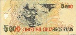 5000 Cruzeiros Reais BRÉSIL  1993 P.241 TTB