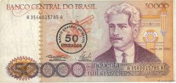 50 Cruzados sur 50000 Cruzeiros BRÉSIL  1986 P.207a TB+
