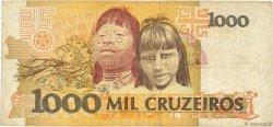 1000 Cruzeiros BRÉSIL  1990 P.231a TB