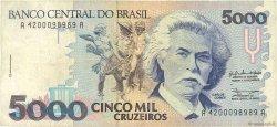 5000 Cruzeiros BRÉSIL  1990 P.232a TB