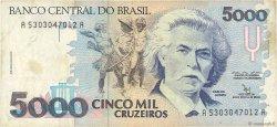 5000 Cruzeiros BRÉSIL  1992 P.232b TB
