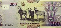 200 Namibia Dollars NAMIBIE  2012 P.15 NEUF