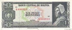 1 Peso Boliviano BOLIVIE  1962 P.158a SUP