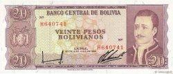20 Pesos Bolivianos BOLIVIE  1962 P.161a NEUF