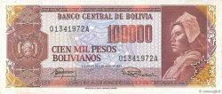 100000 Pesos Bolivianos BOLIVIA  1984 P.171a AU