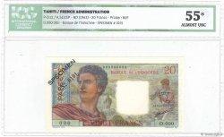 20 Francs TAHITI  1963 P.21cS pr.SPL
