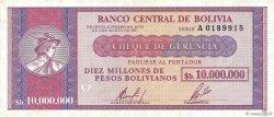 10000000 Pesos Bolivianos BOLIVIE  1985 P.192a TTB