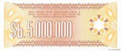 5000000 Pesos Bolivianos BOLIVIE  1985 P.193a SPL