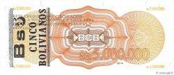 5 Bolivianos sur 5000000 Pesos Bolivianos BOLIVIE  1987 P.200a NEUF