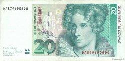 20 Deutsche Mark ALLEMAGNE  1993 P.039b TB