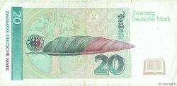 20 Deutsche Mark ALLEMAGNE FÉDÉRALE  1993 P.39b TB