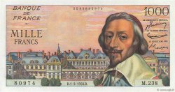 1000 Francs RICHELIEU FRANCE  1956 F.42.19 pr.SPL