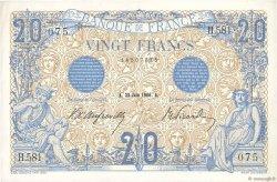 20 Francs BLEU FRANCE  1906 F.10.01 XF+