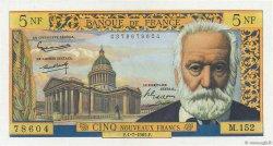 5 Nouveaux Francs VICTOR HUGO FRANCE  1965 F.56.19 pr.SPL