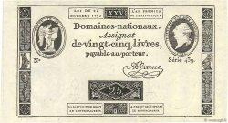 25 Livres FRANCE  1792 Ass.37a NEUF