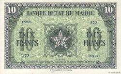 10 Francs MAROC  1943 P.25a NEUF