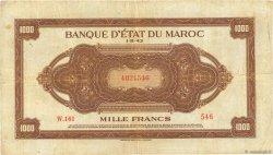 1000 Francs type 1944 MAROC  1943 P.28a TB+