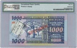 1000 Francs - 200 Ariary MADAGASCAR  1974 P.65s SPL