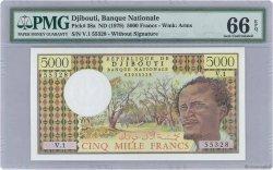 5000 Francs DJIBOUTI  1979 P.38a NEUF