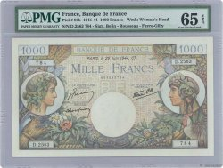 1000 Francs COMMERCE ET INDUSTRIE FRANCE  1944 F.39.09 SPL+