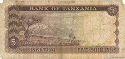 5 Shillings TANZANIE  1966 P.01a B
